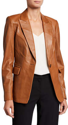 Kobi Halperin Avery One-Button Leather Jacket