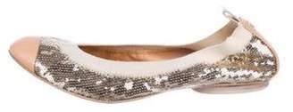 Chanel Sequin Ballet Flats Nude Sequin Ballet Flats