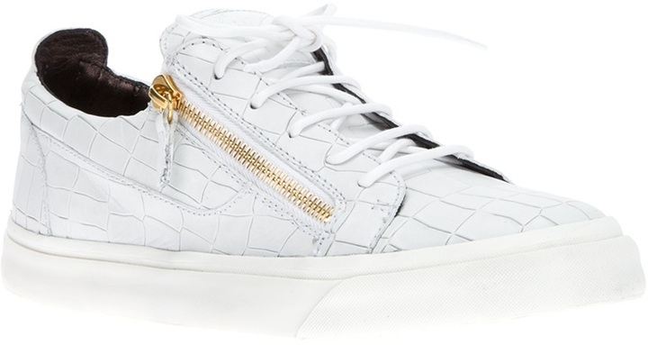 Giuseppe Zanotti Design crocodile effect sneaker
