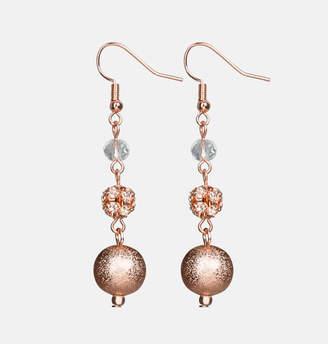 Avenue Rose Gold Ball Drop Earrings