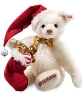 Steiff Teddy Bear Santa - White