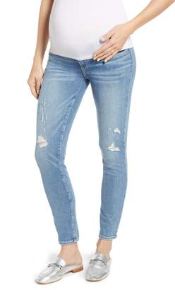 Paige Verdugo Distressed Ankle Skinny Maternity Jeans
