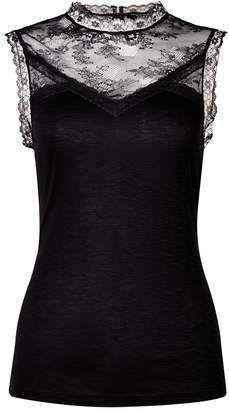 Dorothy Perkins Womens Black 'Victoriana' Lace Top