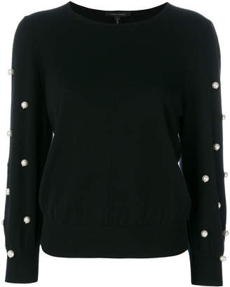 Marc Jacobs faux pearl embellished jumper