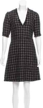 Sonia Rykiel Metallic Tweed Dress
