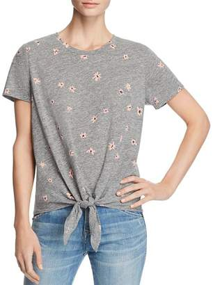 Sundry Daisy Print Tie-Front Tee - 100% Exclusive