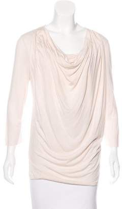Givenchy Long Sleeve Cowl Neck Top