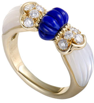 Mother of Pearl heritage Mauboussin Mauboussin 18K Yellow Gold 0.45 Ct. Tw. Diamond, Lapis Lazuli, & Mother-Of-Pearl Ring