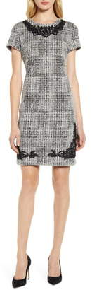 Karl Lagerfeld Paris Tweed Knit Sheath Dress