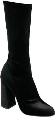 Juliana Herc High Ankle Boot in Black Velvet
