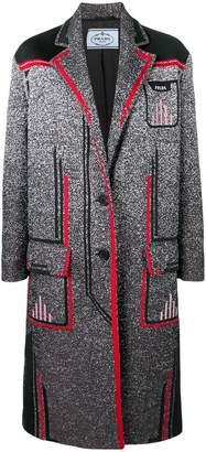 Prada classic tailored overall coat