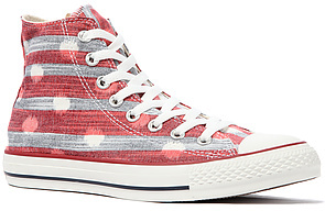 Converse The Chuck Taylor All Star Striped Polka Dot Hi Sneaker