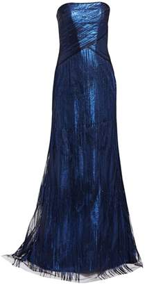 Rene Ruiz Collection Strapless Metallic A-Line Gown