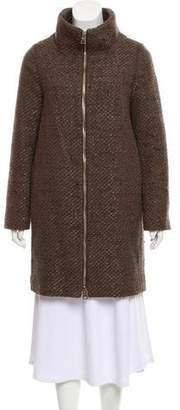 Herno Tweed Knee-Length Coat