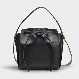 024425c2e6f Anya Hindmarch Shoelace Drawstring Small In Black Soft Calf Leather