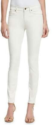 Eileen Fisher Sueded Organic-Stretch Sateen Jeans, Bone