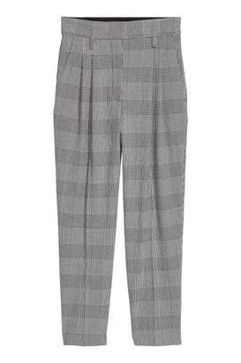 H&M Patterned Pants - White/houndstooth - Women