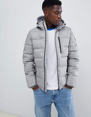 Burton Menswear puffer jacket in gray