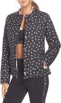 Kate Spade ruffle reversible quilted jacket