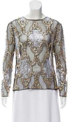 Dolce & Gabbana Embellished Sheer Top
