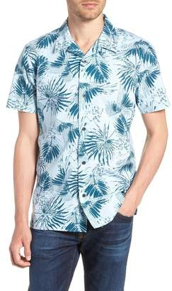 1901 Trim Fit Palm Print Camp Shirt