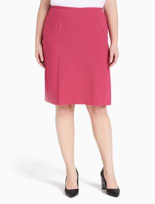 Calvin Klein plus size straight pencil skirt