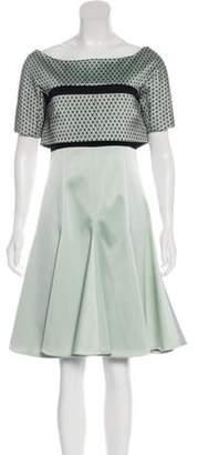 J. Mendel Short Sleeve Flared Dress w/ Tags black Short Sleeve Flared Dress w/ Tags
