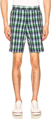 Thom Browne Mid Rise Madras Check Short