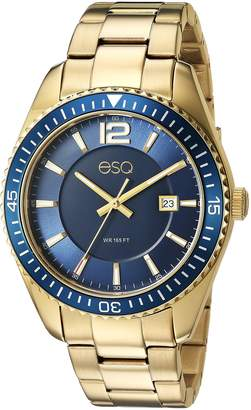 ESQ by Movado ESQ Men's 'Dress' Quartz Stainless Steel and Gold Plated Casual Watch(Model: 37ESQE16201A)