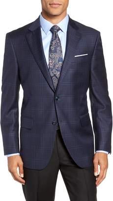 Peter Millar Classic Fit Plaid Wool Sport Coat