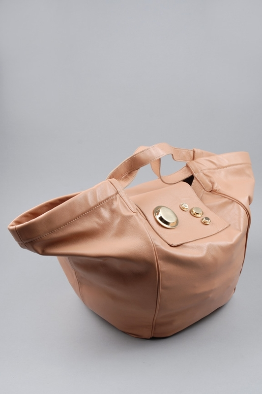 Gustto Estiva Leather Shopper Bag