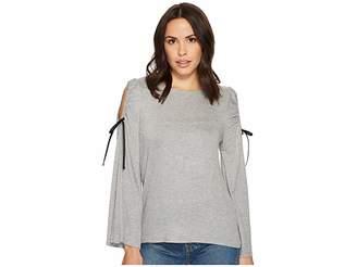Bobeau B Collection by Yara Cold Shoulder T-Shirt Women's T Shirt