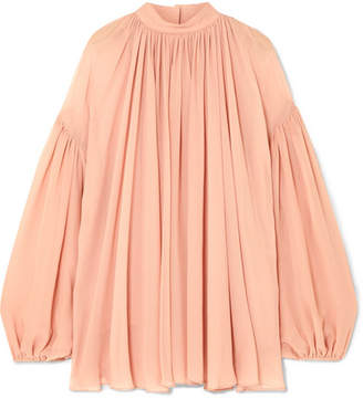 Stella McCartney Silk-georgette Top - Blush