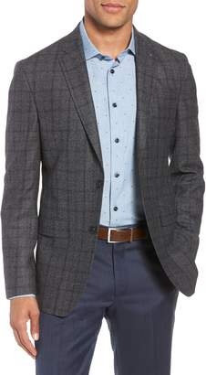 Ted Baker Konan Trim Fit Windowpane Wool Sport Coat