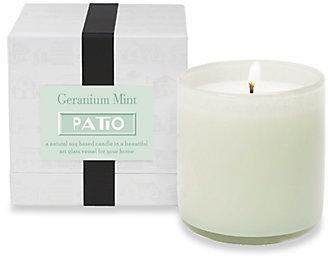 Lafco Inc. Patio/Geranium Mint Glass Candle