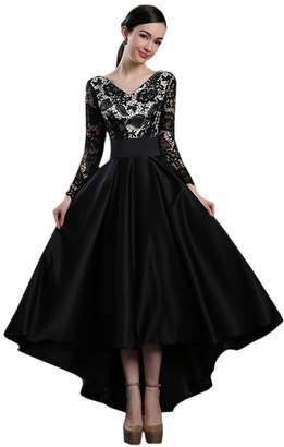 Ealafee Girls Long Champagne New Arrival Sexy Lace Prom Gowns Evening Dress