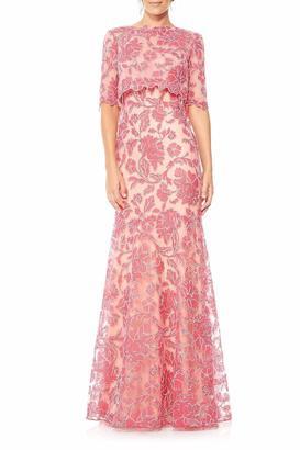 Tadashi Shoji Pop Over Gown $788 thestylecure.com