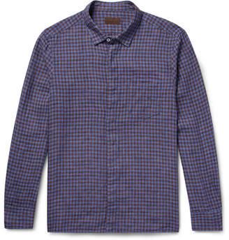 Altea Slim-Fit Checked Linen Shirt