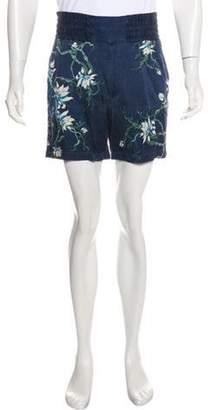 Louis Vuitton Floral Print Shorts white Floral Print Shorts