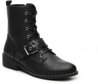 Qupid Plateau-224CX Combat Boot - Women's