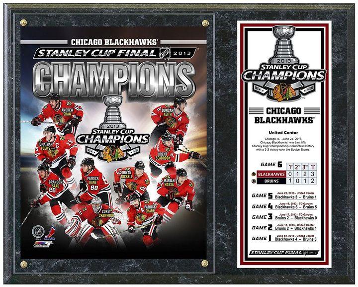 "Chicago Blackhawks 2013 Stanley Cup Champions 12"" x 15"" Plaque"