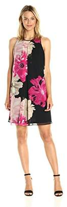 Calvin Klein Women's Printed Inverted Pleat Dress
