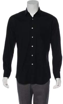 Paul Smith Point Collar Snap-Front Shirt