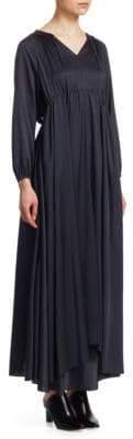 Vetements Hooded Silk Dress