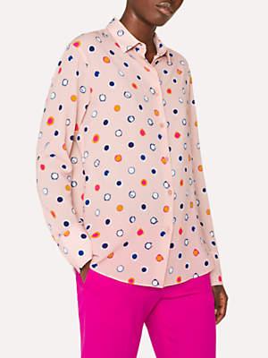 Paul Smith Scribble Spot Print Shirt, Pink