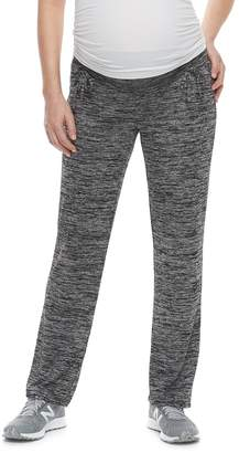 A Glow Maternity a:glow Ruched Belly Panel Straight-Leg Lounge Pants