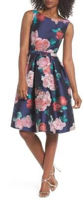 Eliza J Floral Fit & Flare Dress (Regular & Petite)