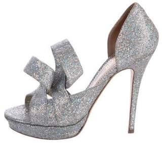 Jerome C. Rousseau Glitter Platform Sandals