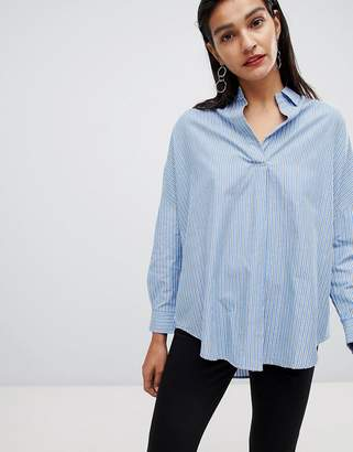 French Connection Oversized Striped Shirt