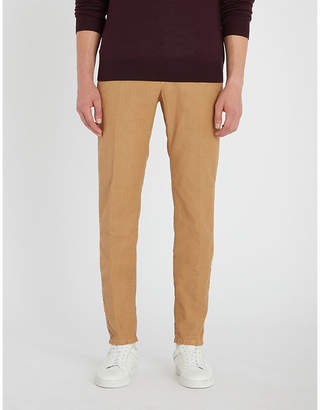 SLOWEAR Garment-dyed slim-fit stretch-cotton trousers
